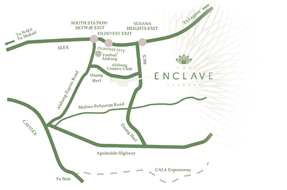 Daang Hari Village Location Evia The Enclave Alabang